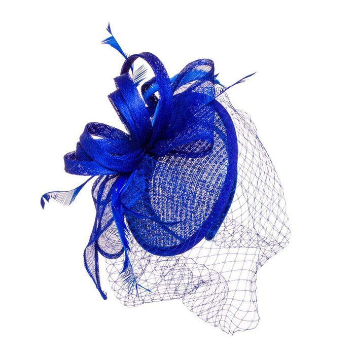 Lace Fascinator with Netting Veil - SetarTrading Hats