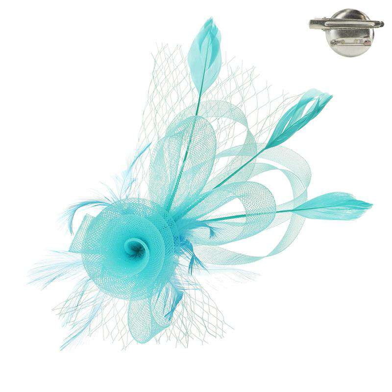 Loopy Mesh Fascinator Brooch