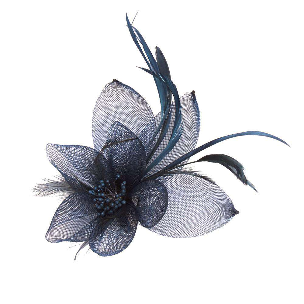 Bead Center Flower and Leaves Brooch - SetarTrading Hats