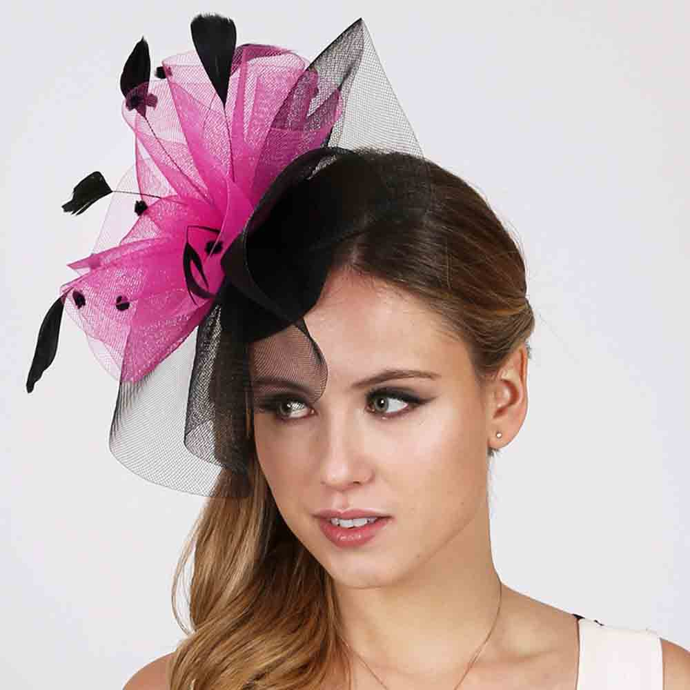 Dotted Ruffle Mesh Fascinator