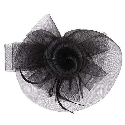 Mesh Bow Flower Fascinator - SetarTrading Hats