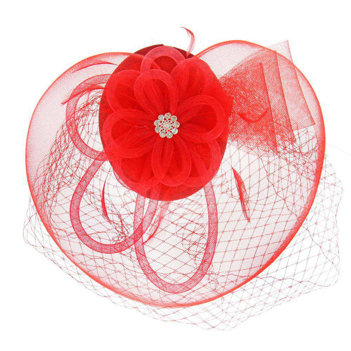 Rhinestone Flower Center Fascinator