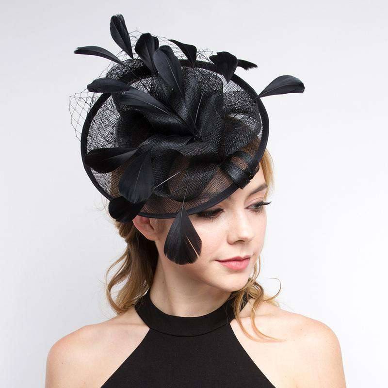 Sinamay and Feather Cocktail Hat by Something Speical LA