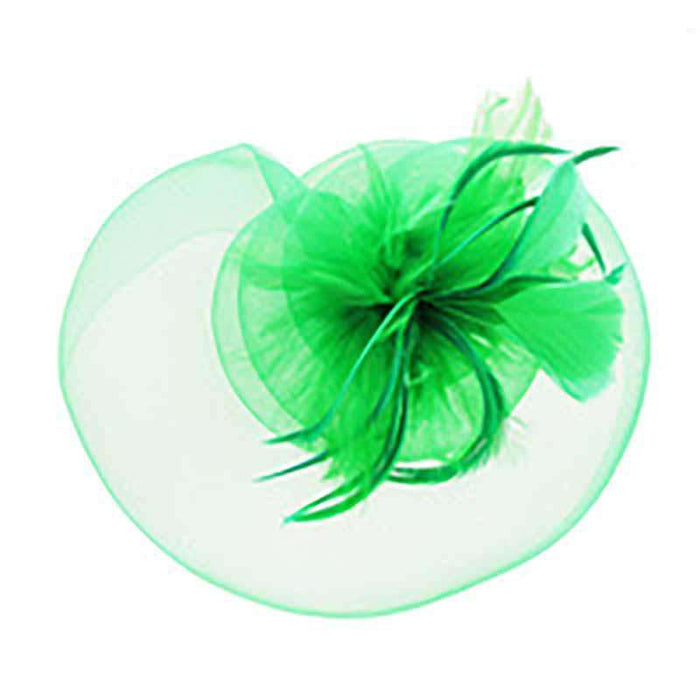 Spiral Flower with Feather Burst Fascinator