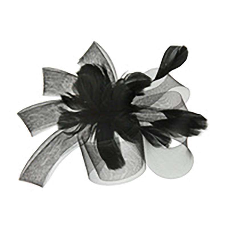 Feather Flower - Mesh Bow Fascinator - SetarTrading Hats
