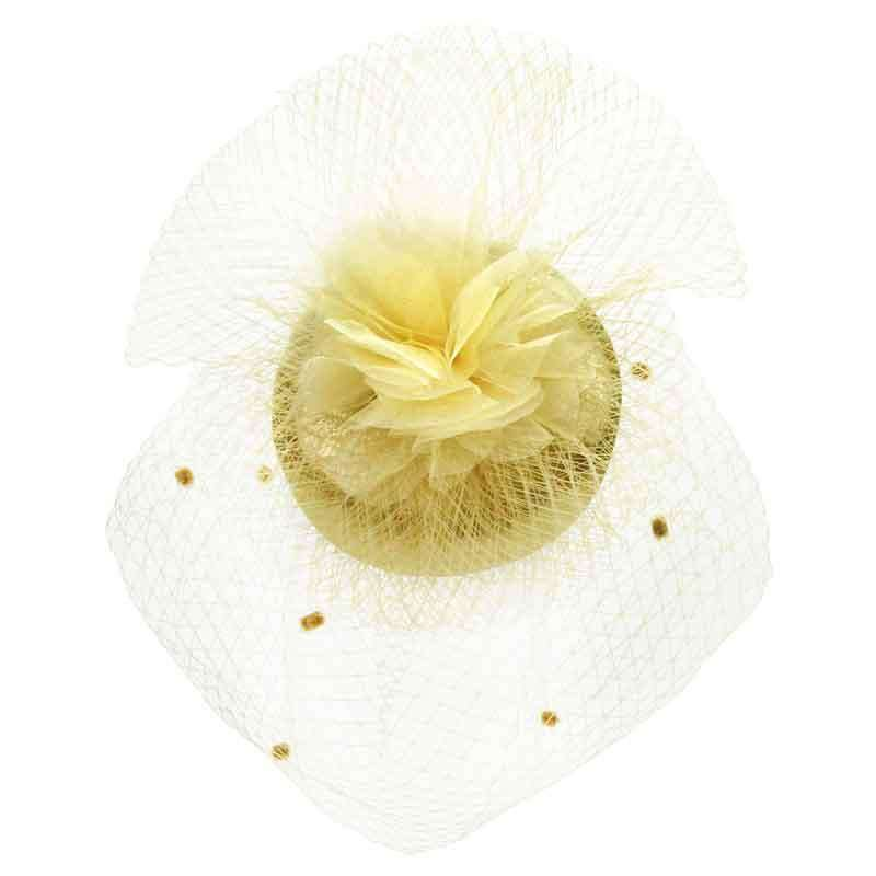 Satin Fascinator with Dotted Netting Veil
