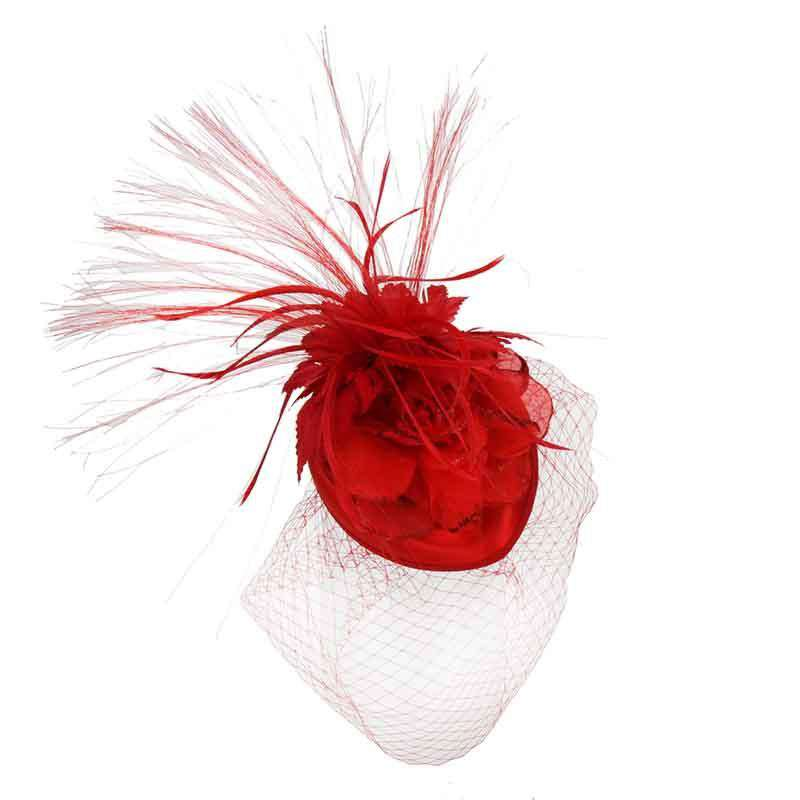 Feather Burst Oval Pill Box Fascinator - SetarTrading Hats