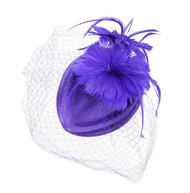 Feather Flower Petals Oval Pill Box Fascinator - SetarTrading Hats