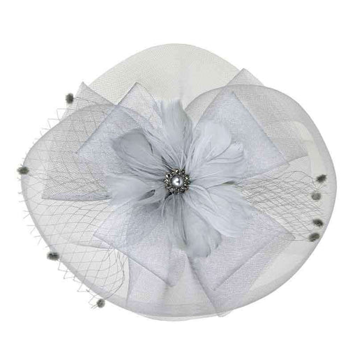 Feather Flower Pearl Center Fascinator - SetarTrading Hats
