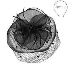 Dotted Netting Veil Fascinator - SetarTrading Hats