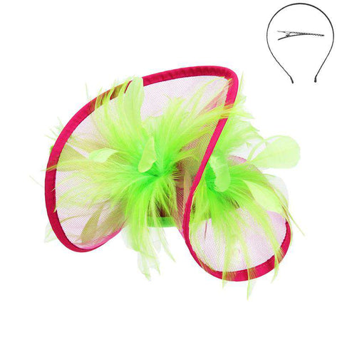Feather Accented Rolled Tulle Fascinator