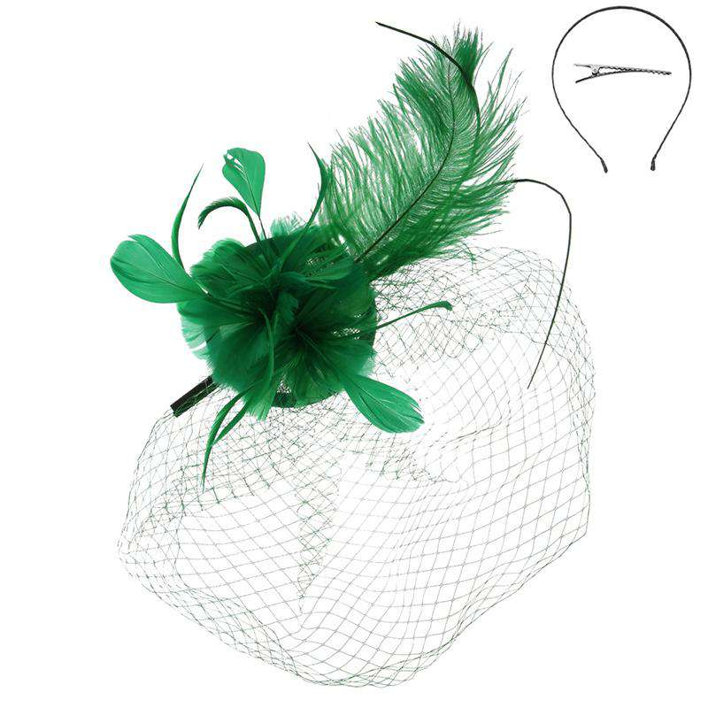 Long Feather Fascinator