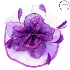 Tulle and Silk Fascinator - Sophia Collection