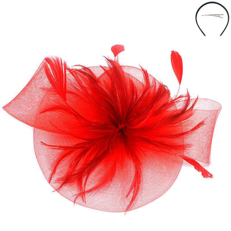 Round Feather Burst Fascinator - Sophia Collection