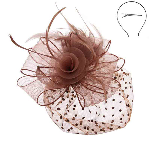 Polka Dot Veil Fascinator Headband - Something Special