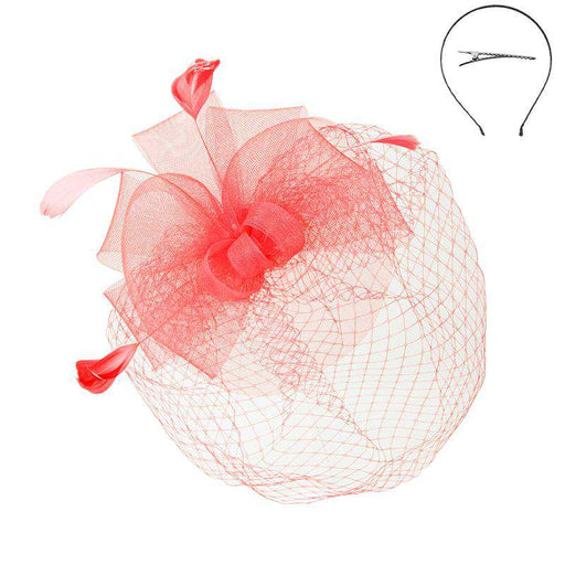 Mesh Bow Fascinator with Netting Veil - Sophia Collection