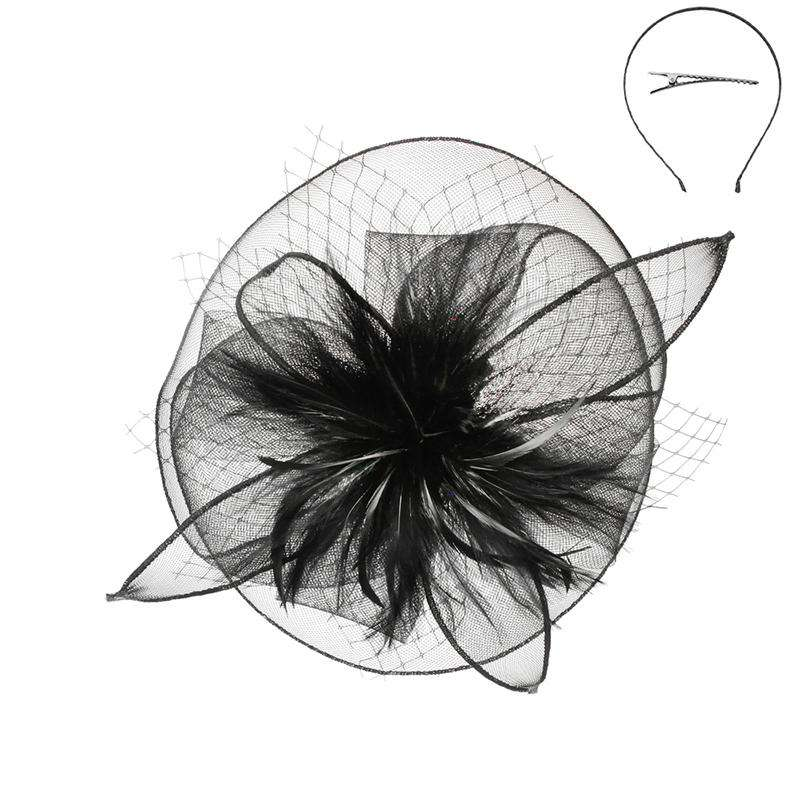 Small Feather Burst Fascinator - Sophia Collection