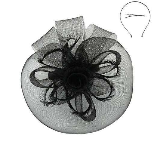 Double Flower Mesh Veil Fascinator