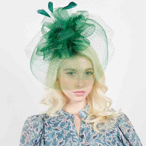 Mesh Veil Fascinator with Netting and Feather - Something Special