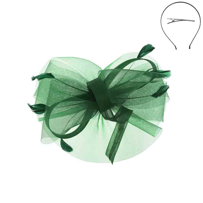 Looped Feather Scrunched Tulle Fascinator Headband - Something Special