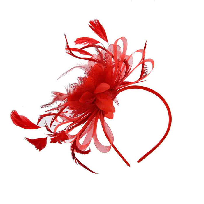 Satin Floral Fascinator Headband - Sophia Collection