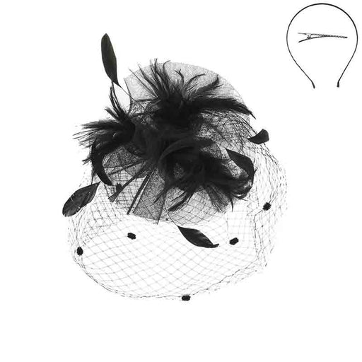 Triple Lillies Feather Burst Center Fascinator - Something Special