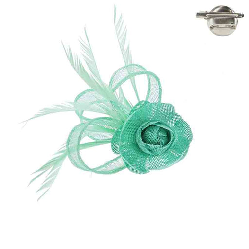 Floral Loop Woven Fascinator Brooch Pin - Something Special