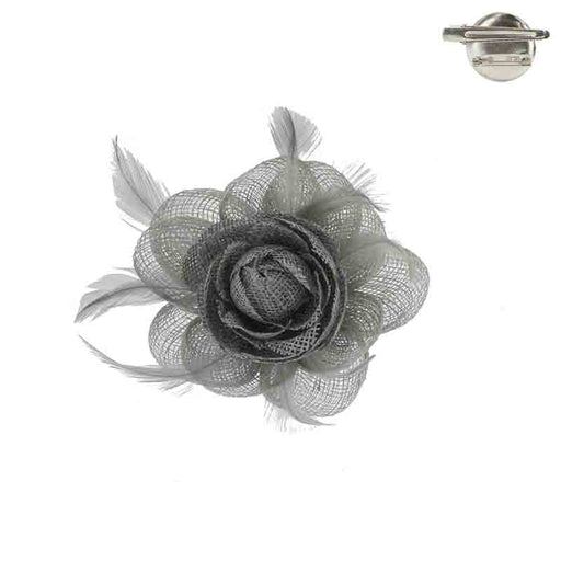 Small Flower Woven Fascinator Brooch Pin - Something Special