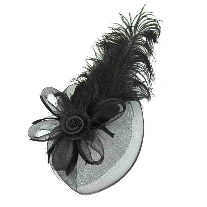 Large Peacock Feather Fascinator - Sophia Collection