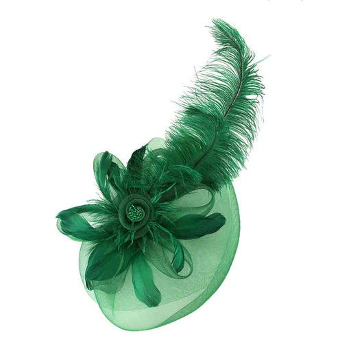 Large Ostrich Feather Fascinator - Sophia Collection
