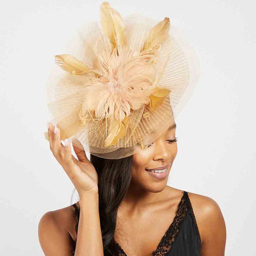 Feather Flower Center Disk Fascinators - Something Special