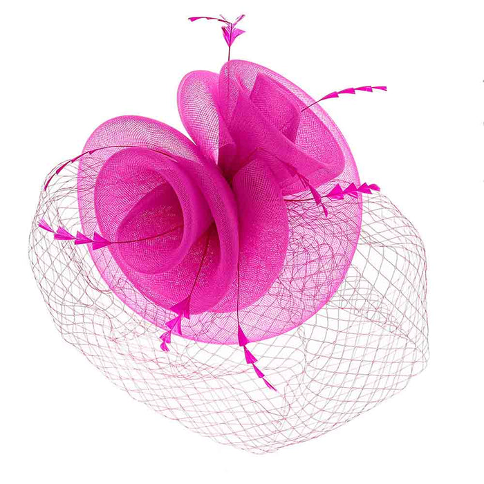 High Top Double Layer Mesh Fascinator - Something Special