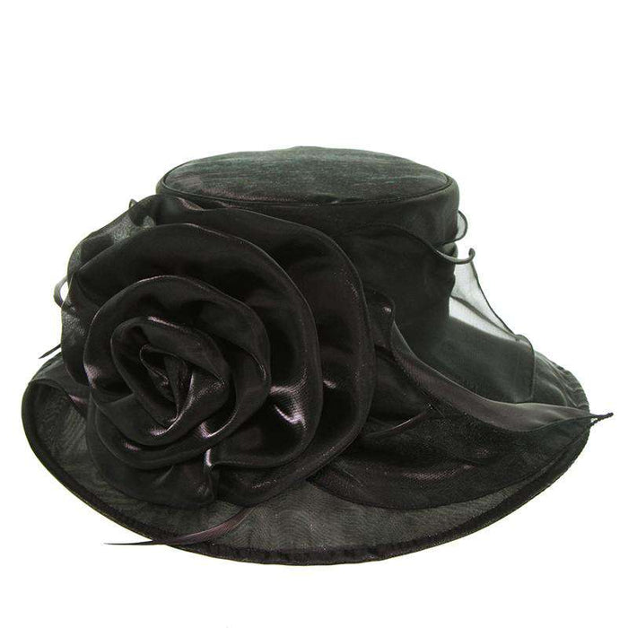 Organza Hat with Rose