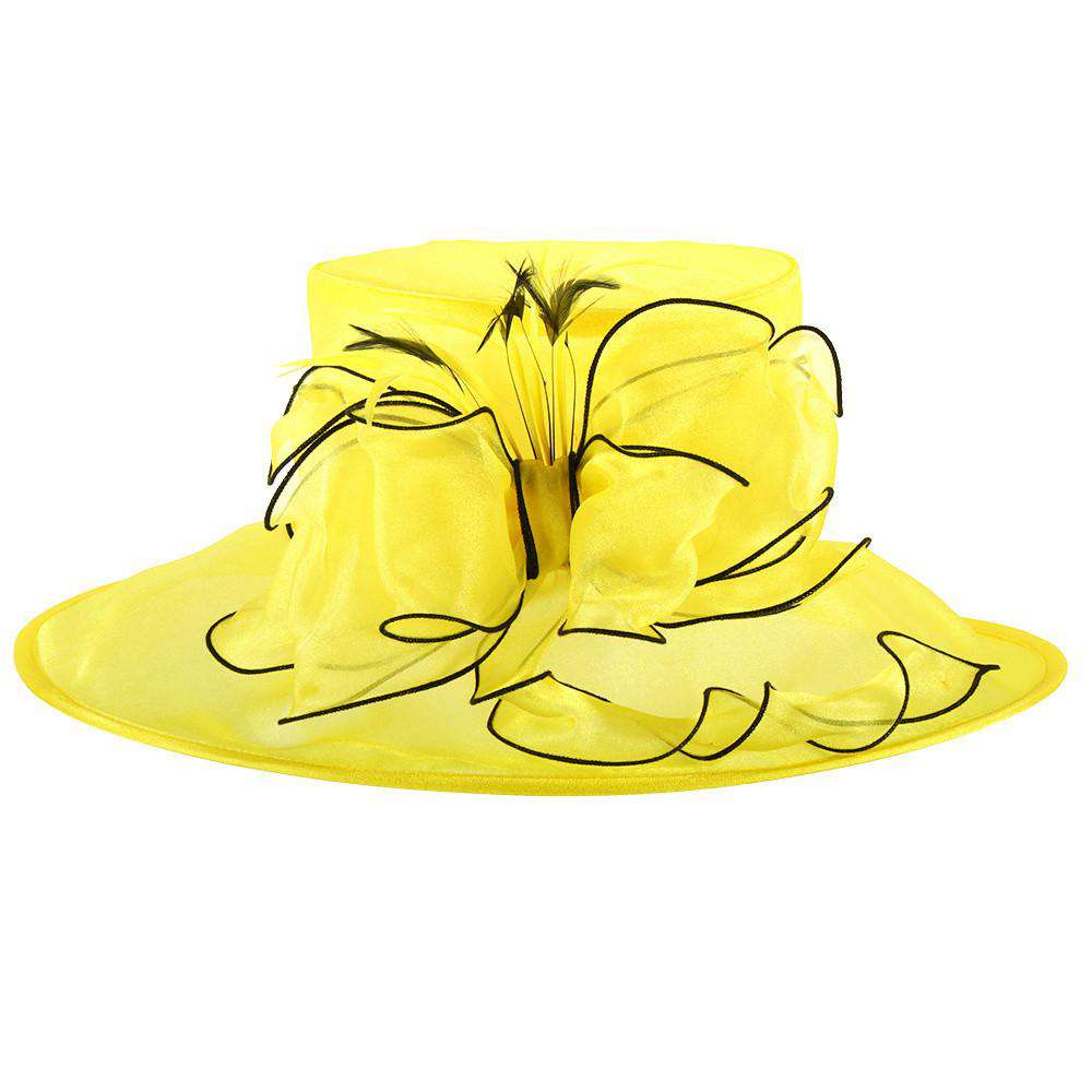 Crushable Organza Hat with Bow - SetarTrading Hats