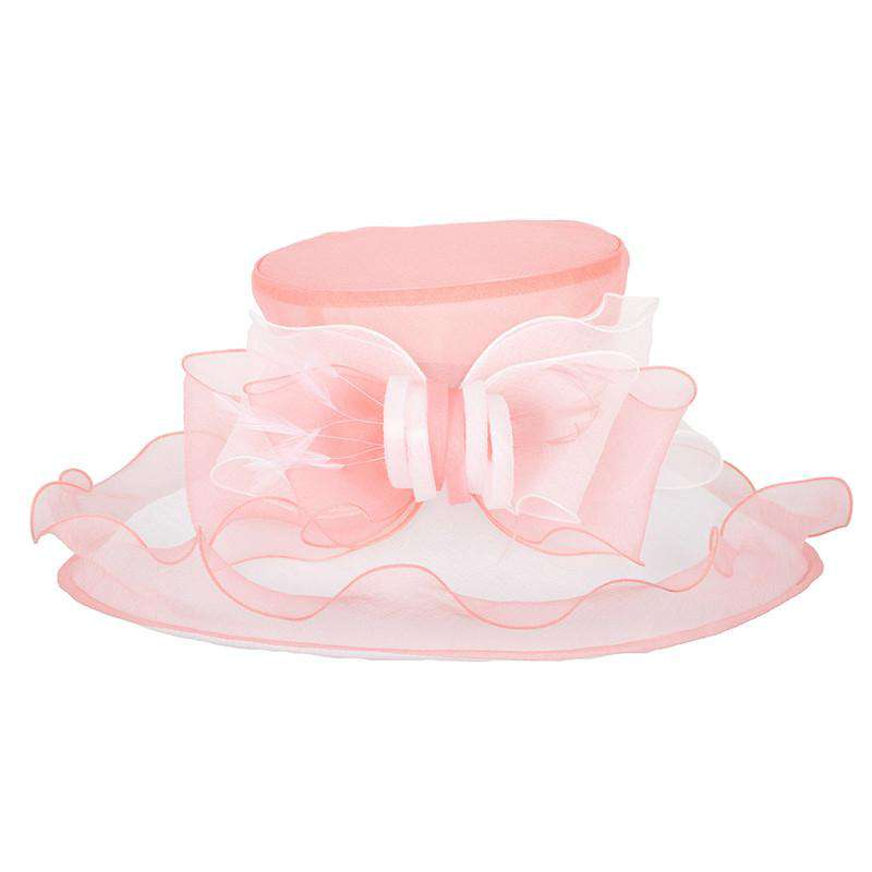 Two Tone Loopy Bow Organza Hat - SetarTrading Hats