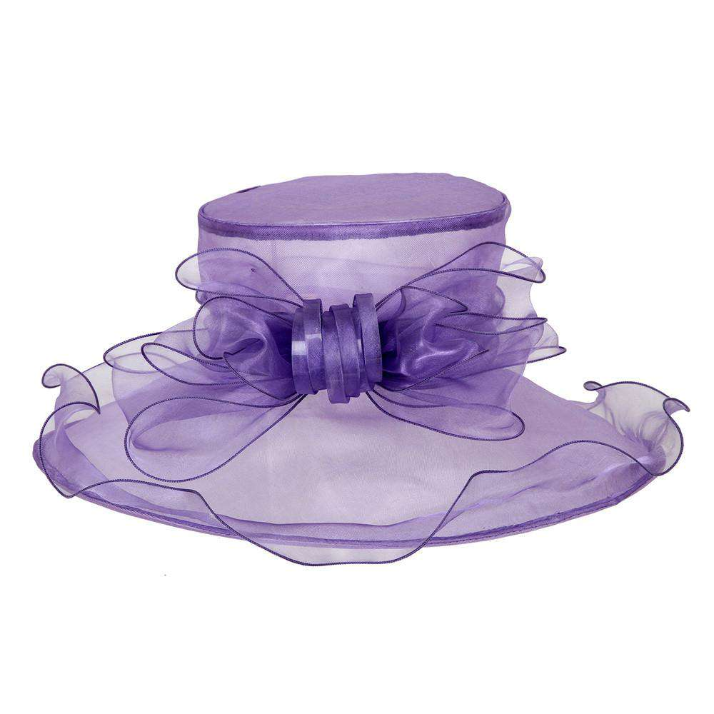 ba852a0782c Organza Hat with Ruffle Brim and Bow