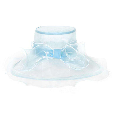 Bow Organza Hat with Ruffle Brim - SetarTrading Hats