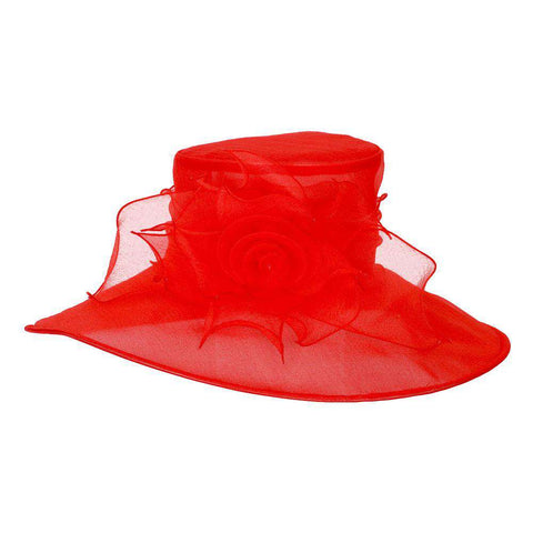 Rose Center Large Organza Hat