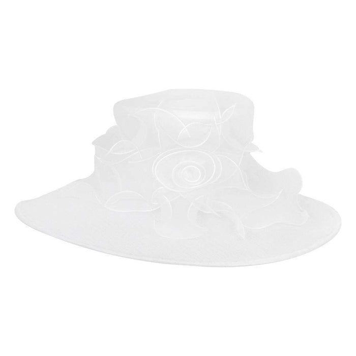Rose Center Large Organza Hat - SetarTrading Hats