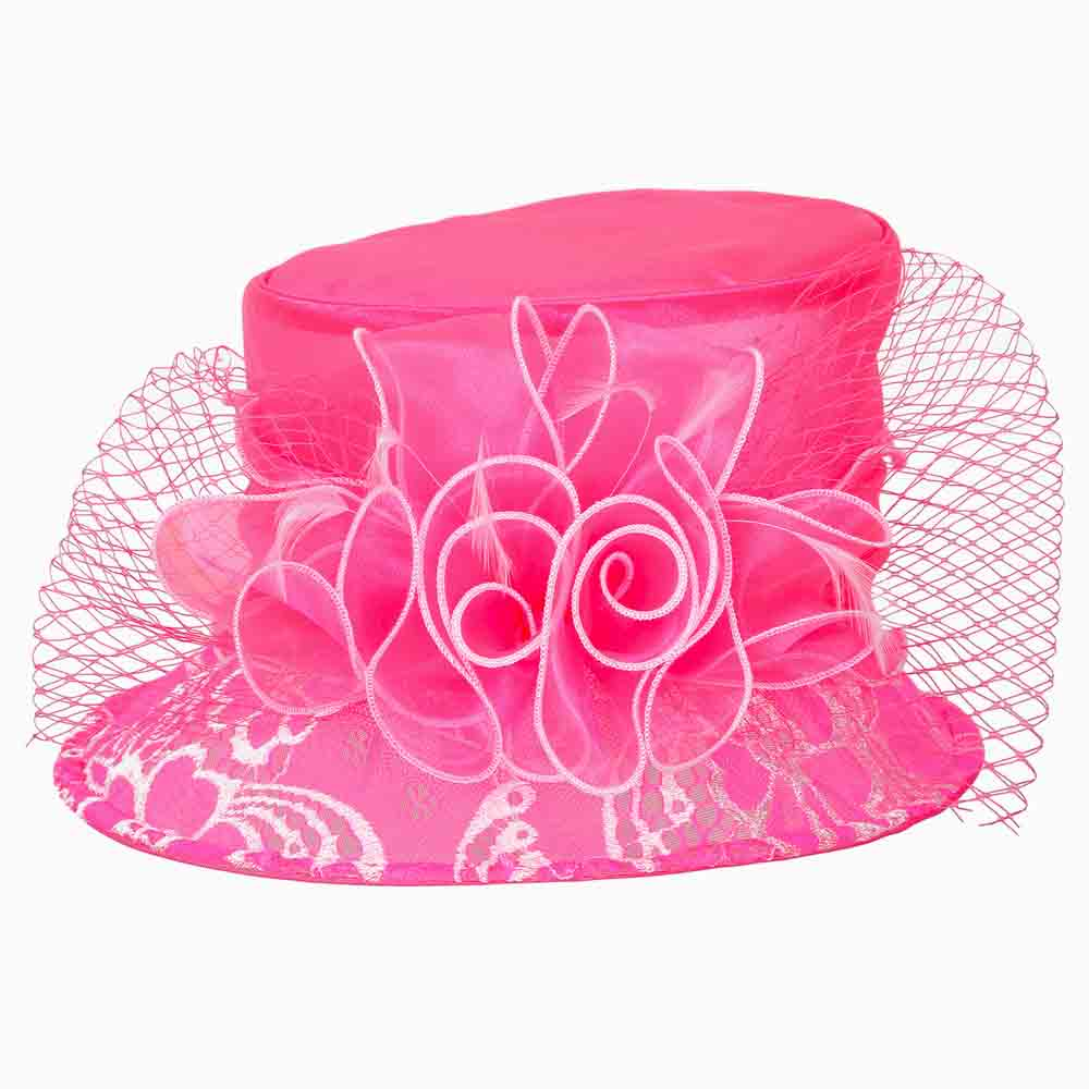 Lace Brim Small Dress Hat - Something Special