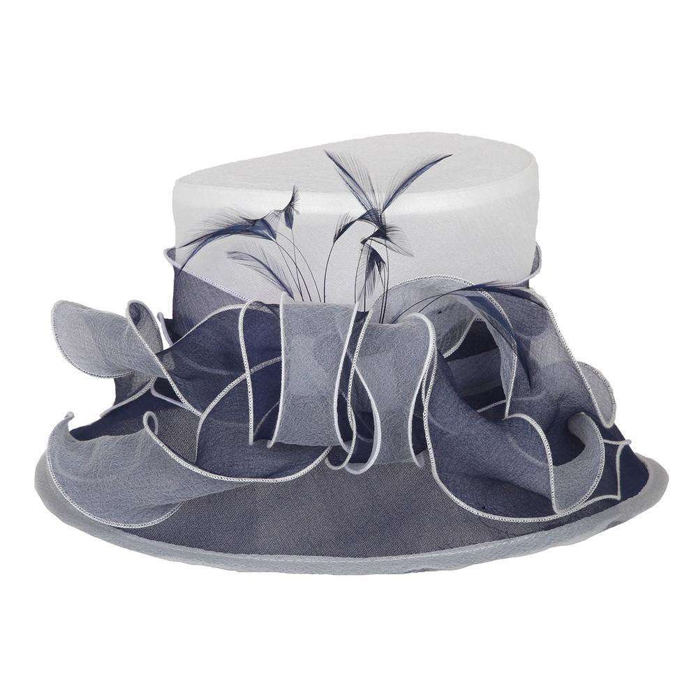 Small Two Tone Organza Hat - SetarTrading Hats