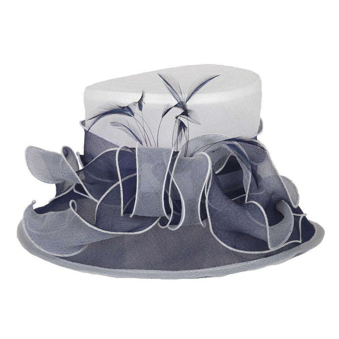 Small Two Tone Organza Hat