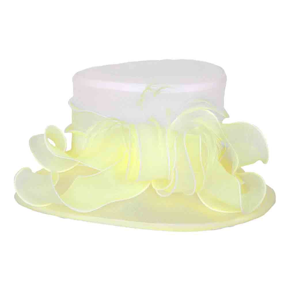 Small Brim Two Tone Organza Dress Hat - Something Specail