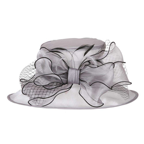 Bow and Netting Organza Hat