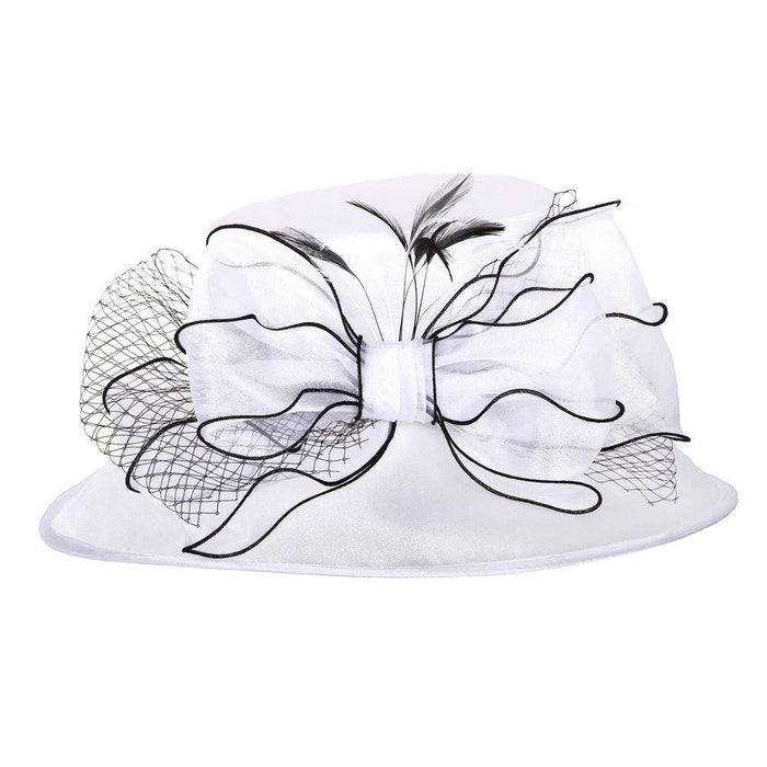 Bow and Netting Organza Hat - SetarTrading Hats