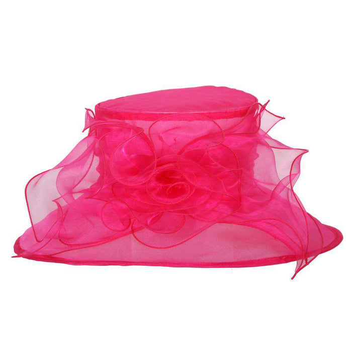 Lilies and Bow Organza Hat - SetarTrading Hats