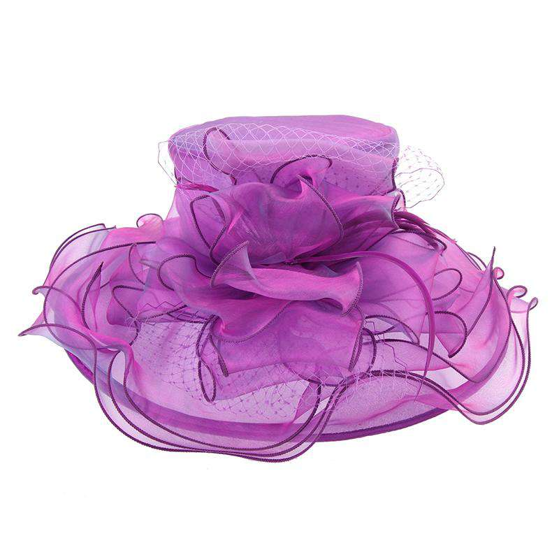 Organza Dress Hat with Netting Bow