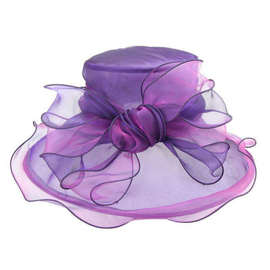 Two Tone Bow Organza Dress Hat