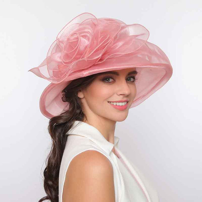 Medium Brim Sheer Ruffle Organza Hat - Something Special Hat Collection
