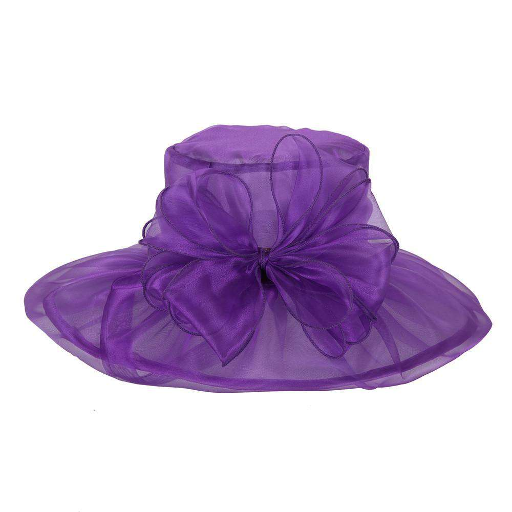 Pleated Sheer Organza Hat - SetarTrading Hats